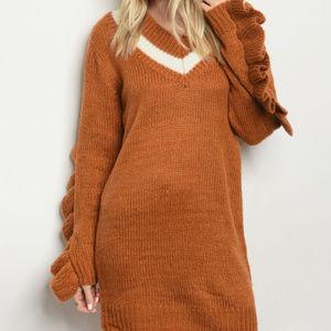 Earth Tones Sweater Dress